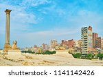panorama with pompey's... | Shutterstock . vector #1141142426