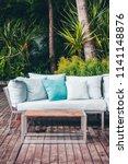 comfortable pillow on sofa... | Shutterstock . vector #1141148876