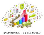 success and income increase... | Shutterstock .eps vector #1141150460