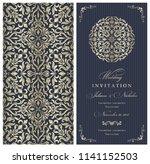 wedding invitation cards ... | Shutterstock .eps vector #1141152503