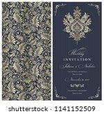 wedding invitation cards ...   Shutterstock .eps vector #1141152509