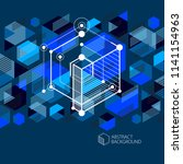 technical blueprint  vector... | Shutterstock .eps vector #1141154963