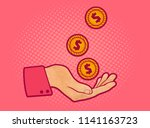 vector illustration of a hand... | Shutterstock .eps vector #1141163723