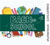 back to school vector design | Shutterstock .eps vector #1141169843