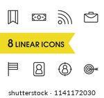 commerce icons set with wifi ...