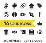 ui icons set with dollar ...
