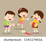 boy embrace the girl are... | Shutterstock .eps vector #1141174016