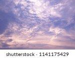 beautiful pink and purple sky... | Shutterstock . vector #1141175429