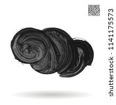 grey brush stroke and texture.... | Shutterstock .eps vector #1141175573