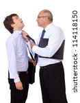 senior angry businessman with... | Shutterstock . vector #114118150