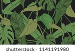 vector tropical seamless... | Shutterstock .eps vector #1141191980