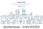 innovations   line design style ... | Shutterstock .eps vector #1141192553
