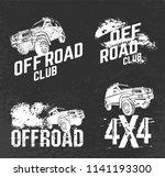 off road logo set. extreme... | Shutterstock .eps vector #1141193300