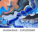 blue orange black and white... | Shutterstock . vector #1141202660