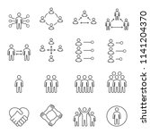 people icons   person work... | Shutterstock .eps vector #1141204370