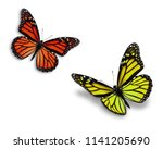 two colorful monarch butterfly...   Shutterstock . vector #1141205690
