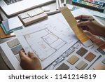 architect designer interior... | Shutterstock . vector #1141214819