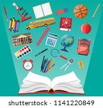 big school set. different... | Shutterstock .eps vector #1141220849