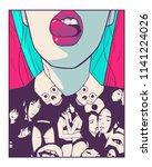 t shirt printing design...   Shutterstock .eps vector #1141224026