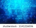 bulb future technology ... | Shutterstock . vector #1141226036