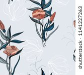 blooming realistic isolated... | Shutterstock .eps vector #1141227263