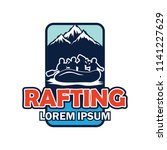 rafting logo with text space...   Shutterstock .eps vector #1141227629