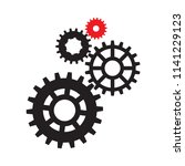 gears  trundles and cogwheels ... | Shutterstock .eps vector #1141229123