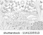 summer rustic landscape for... | Shutterstock .eps vector #1141235513