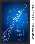 new year 2013 card   Shutterstock .eps vector #114124756