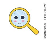 upset magnifying glass  cute... | Shutterstock .eps vector #1141248899