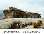 chullpa funerary buildings  ... | Shutterstock . vector #1141250549