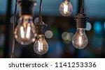 sparkling idea light   Shutterstock . vector #1141253336