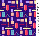 vectior nails art beauty salon. ... | Shutterstock .eps vector #1141255616