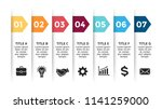 vector paper arrows infographic ... | Shutterstock .eps vector #1141259000