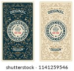 vintage card. western style | Shutterstock .eps vector #1141259546