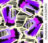 seamless urban funky geometric...   Shutterstock .eps vector #1141260953
