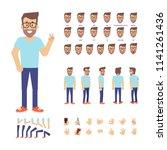 young geek man constructor.... | Shutterstock .eps vector #1141261436