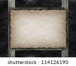 Paper sheet on black background - stock photo