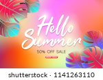 summer sale background layout... | Shutterstock .eps vector #1141263110