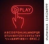 play button click neon light...   Shutterstock .eps vector #1141268999