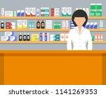 web banner of a pharmacist....   Shutterstock .eps vector #1141269353