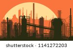 horizontal stylized... | Shutterstock .eps vector #1141272203