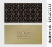 pattern card 01. background... | Shutterstock .eps vector #1141272353
