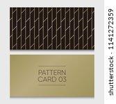 pattern card 03. background... | Shutterstock .eps vector #1141272359