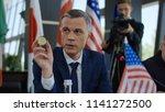 formal politician of american... | Shutterstock . vector #1141272500
