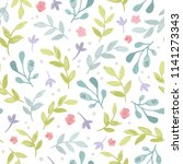watercolor seamless pattern...   Shutterstock .eps vector #1141273343