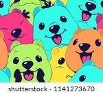 quokka pattern illustration...   Shutterstock .eps vector #1141273670