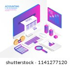 accounting system  isometric... | Shutterstock .eps vector #1141277120