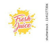 juice splash vector sign | Shutterstock .eps vector #1141277306