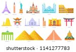 country icons travel vacation...   Shutterstock .eps vector #1141277783
